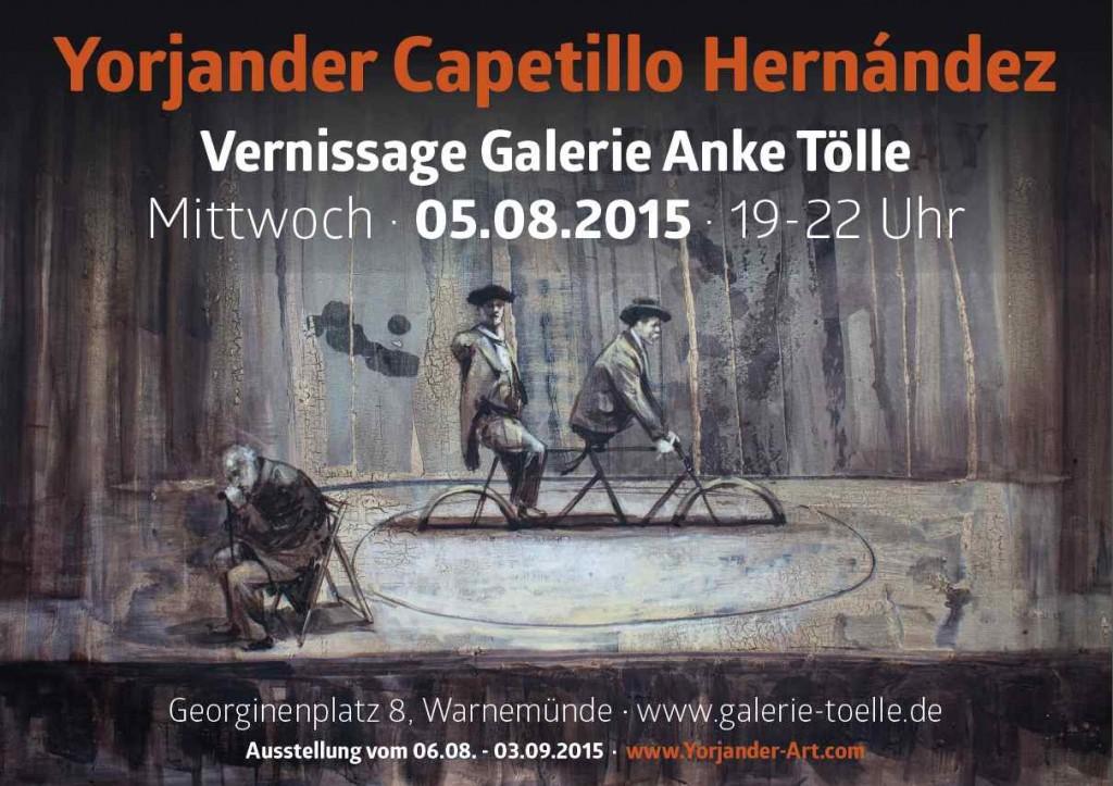 Ausstellungsplakat Yorjander Capetillo Hernàndez Warnemünde 2015