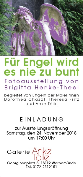 """Ausstellung """"Für Engel wird es nie zu bunt"""""""